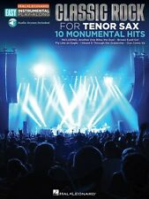Classic Rock Tenor Sax Easy Instrumental Play-Along Book with Online A 000122198