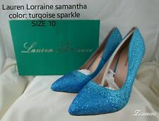 Lauren Lorraine Samantha Women's Blue Rhinestone Pumps Shoes 10 M New