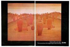 1969 Jean Michel Folon orange men art AT&T Bell Telephone vintage print ad