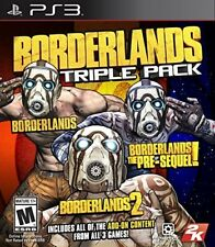 PLAYSTATION 3 PS3 GAME BORDERLANDS TRIPLE PACK BRAND NEW AND SEALED