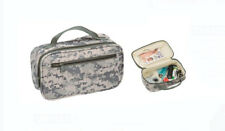 "New 10"" Green CAMO TRAVEL Water Resistant TOILETRIES BAG Mens Toiletry Shave Kit"
