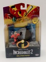 NIB Disney Pixar Incredibles 2 Drill Attack Playset Mr. Incredible Action Figure