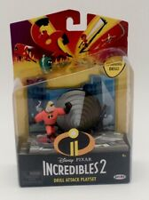Nib Disney Pixar Incredibles 2 Drill Attack Playset Mr. Incredible Action Figure