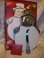 Lenox Yuletide Metal Serveware Snowman Cheeseboard Christmas Decor