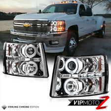 [CCFL PKG] 2007-2013 Chevy Silverado Brightest Halo LED DRL Projector Headlights