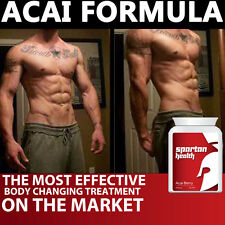 ACAI SPARTAN HEALTH ACAI BERRY PILLS TABLETS GET DEFINED MUSCLES 6 PACK FAST !!