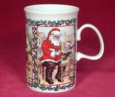 Dunoon Merry Christmas Coffee Mug Cup Santa Claus Making Gifts Scotland Red