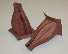 Pair, Vans RV6, RV7, RV9 Brown Vinyl Stick Boots, Lined with Zipper