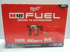 "Milwaukee M18 FUEL 18V Brushless Cordless 1"" SDS-Plus Rotary Hammer 2712-20 NEW"