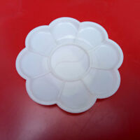 1Pc/Set 10 Grid Plum Blossom Watercolor Plastic Painting Tray Mixing Palette WH