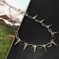 SPIKE Rivets Chokers Punk Goth Necklace Rock Gothic Chain Rivet Gifts