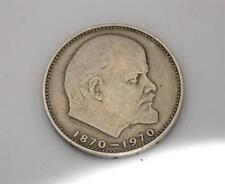 RARE russo Centenario di Lenin della nascita / 1870-1970 GIUBILEO 1 RUBLO MEDAGLIA