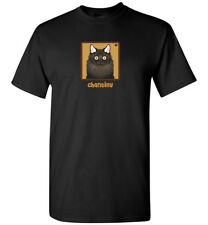 Chantilly Cat Cartoon T-Shirt, Men Women's Youth Tank Short Long Sleeve