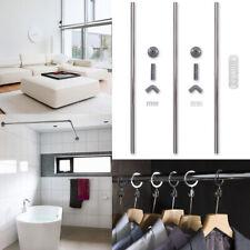 Shower Curtain Rail White - L-Shape / U-Shape / Straight Bathroom Bedroom