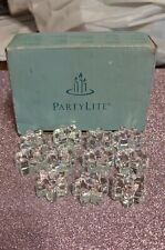 Partylite Celebration Birthday Cake Glass Candle Holders *New: one broken* T