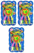 BUBBLES WITH COLORFUL BUBBLE WATER - 3 Sets