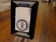 FORD MUSTANG LOGO STREET CHROME ZIPPO LIGHTER MINT IN BOX