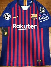 Nike Fc Barcelona Home Jersey Authentic Messi 10 Champions League Size Small 4d8669096