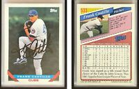 Frank Castillo Signed 1993 Topps #533 Card Chicago Cubs Auto Autograph