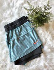 Nike Dri-Fit Icon 2 in 1 Striped Blue Gray Running Fitness Training Shorts M EUC