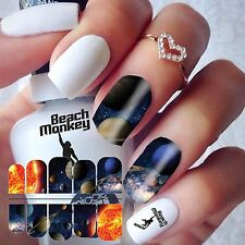 Nail Art Nail Wraps Nail Decals Transfers Water Transfers PLANETS
