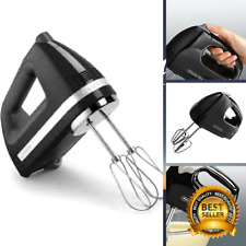 Small Electric Hand Mixer 5 Speed and Speed Ultra Power Mixing Case Black New