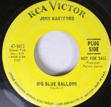 Hear! Folk Promo 45 John Hartford - Big Blue Baloon / The Six O'Clock Train And