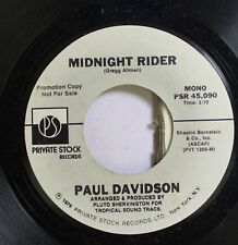 Pop Nm! 45 Paul Davidson - Midnight Rider / Midnight Rider On Private Stock Reco