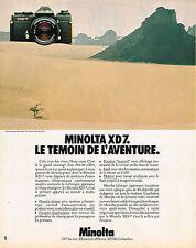 PUBLICITE ADVERTISING 024   1980   MINOLTA  appareil photo XD7
