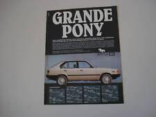 advertising Pubblicità 1983 HYUNDAI PONY