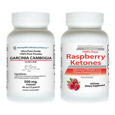 PURE Garcinia Cambogia HCA EXTRACT Weight Loss + Raspberry Ketone EXTREME PURE