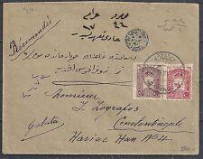 Turkey 1926 R-cover Sapandja to Constantinopel Rare!