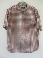 Chaps Men's Size L Short Sleeve Button Front Shirt