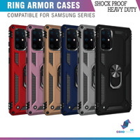 Hybrid Armor Cover Shockproof Ring Case Stand For Samsung M20 S10 S9 S20 FE A21S