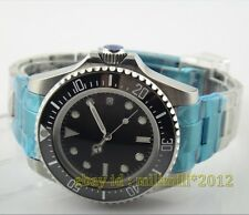 parnis 43mm ceramic bezel deep sea dweller automatic watch deployment buckle