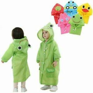 Children Raincoat Kids Poncho Hooded Jacket Rain Coat Cute Nursery
