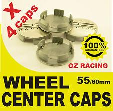tapas llantas  ruedas wheel center caps OZ RACING PLATA NEGRO 55mm 60mm 4x