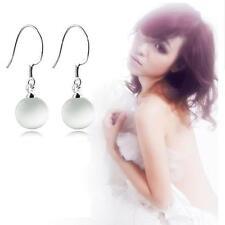 Circle Jewelry Silver Plated Hook Ear Stud Opal Earrings Drop/Dangle