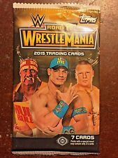 2015 Topps WWE Road to WresleMania Factory Sealed Pack - 7 Cards