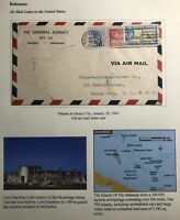 1941 Nassau Bahamas General Agency Airmail Cover To Jersey City NJ USA