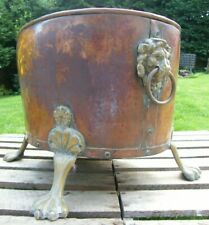 More details for  a large georgian riveted copper country house log bin bucket garden planter