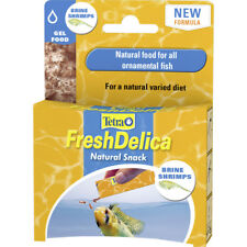Tetra Fresh Delica Brine Shrimp 16 x 3g Freshwater Fish Food Aquarium Treats Gel