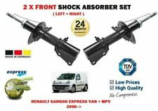 FOR RENAULT KANGOO VAN + MPV 2008-> 2X FRONT LEFT RIGHT SHOCK ABSORBER SET