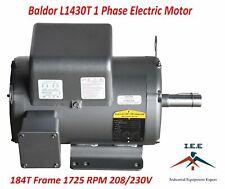 5 Hp Single Phase Baldor Electric Compressor Motor 184t Frame L1430t 230 Volt