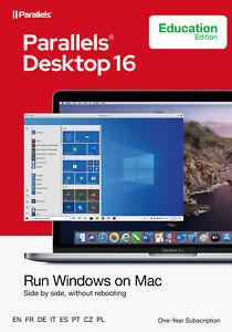 Parallels Desktop 16 Standard für MAC *1-Jahr* EDU Academic / Schulversion / KEY