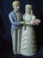"Large 8"" Bride & Groom Prestige Collector's Club Excel figurine 1990, porcelain"