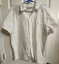 New Chef Works Size M Unisex Uniform Jacket White Coat Long Sleeves Snap Up