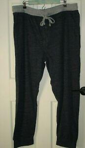 Hanes Mens Size 2XL 44-46 (40x30) Blue/Gray Lounge Pants Stretch 34-16564