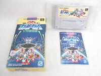 SD GUNDAM V SAKUSEN Mobile Suit Ref/bcc Super Famicom Nintendo Japan Game sf