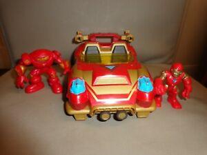 Marvel Super Hero Adventures Playskool Heroes Ironman vehicle and figures